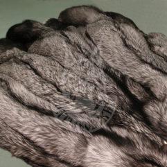 Fox pelt dressed (Silvery black)