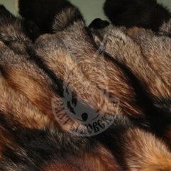 Fox pelt dressed, coloured (Sivodushka)